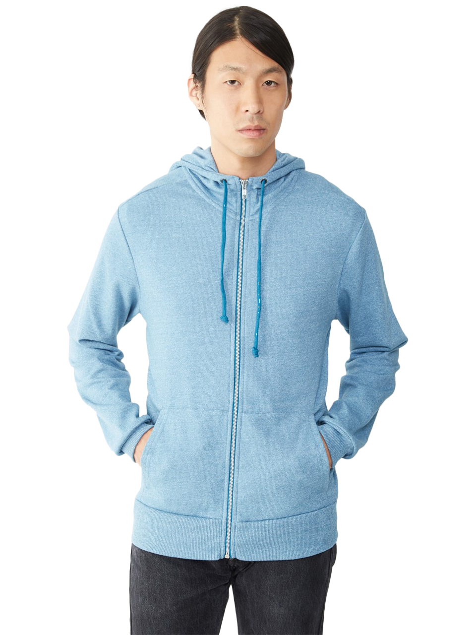 Alternative-09880EY-Rocky-Mock-Neck-Zip-Hoodie