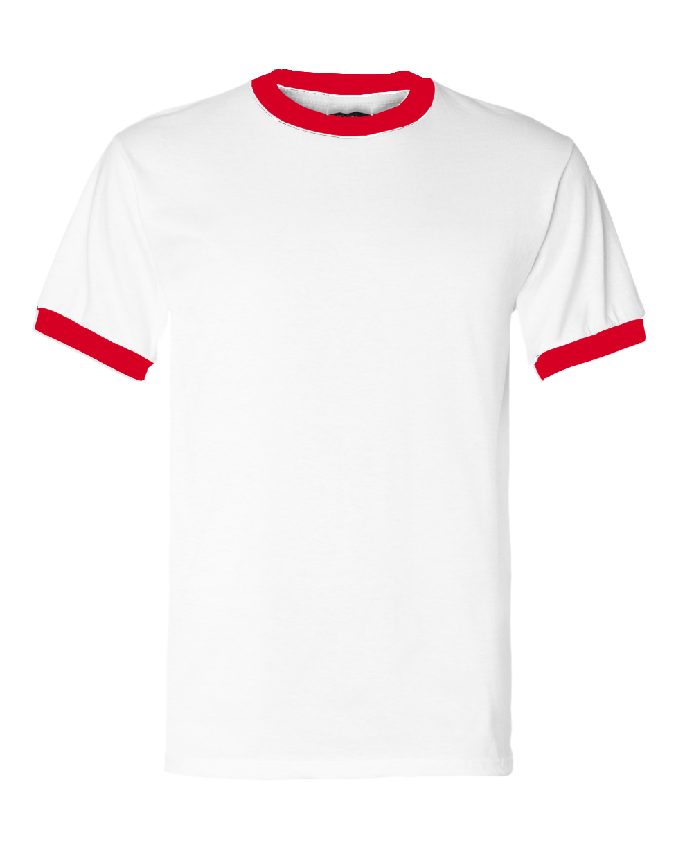 American_AA_BB410_Short_Sleeve_Ringer_Tee_Red_and_White