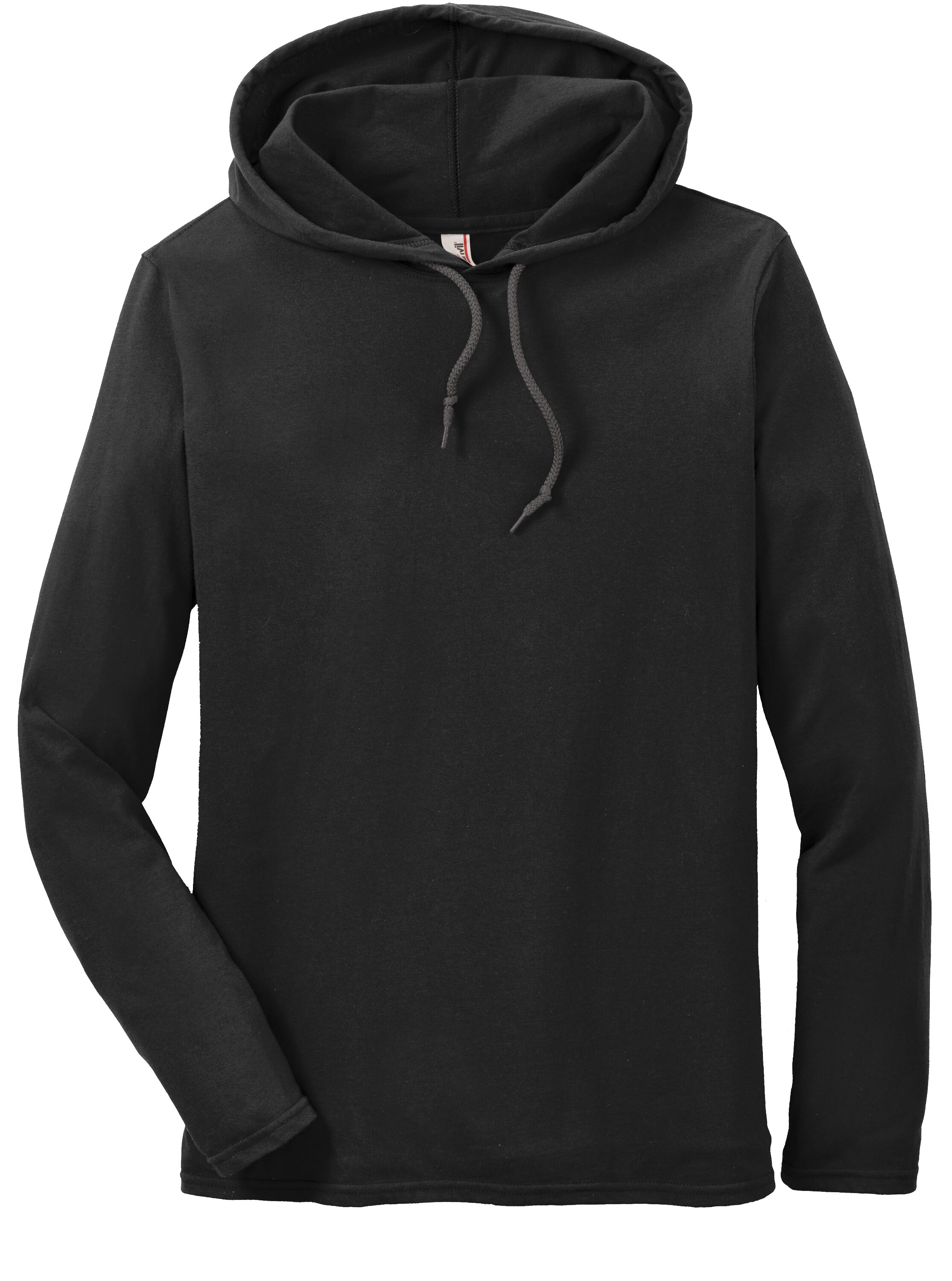 Anvil_987_Black_Dark_Grey_Mens_Ring_Spun_100_Cotton_Long_Sleeve_Hooded_T-Shirt_Hoodie