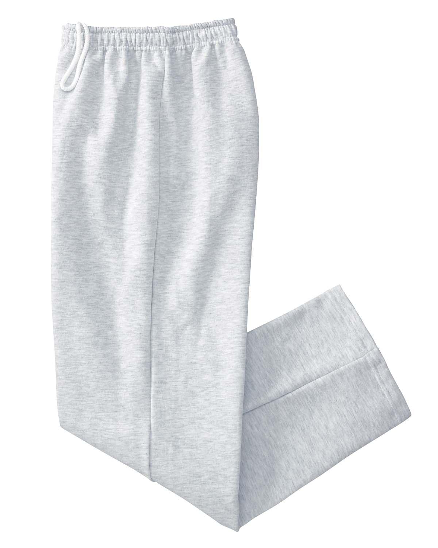 Gildan_G184_Ash_Grey_Mens_Open_Bottom_Sweatpants